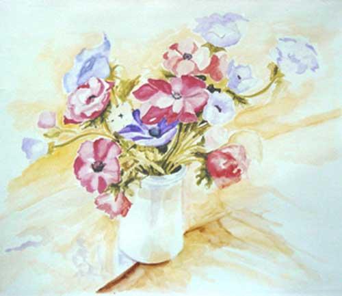 Bouquet in Vase ( Anémonas)